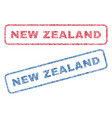 new zealand textile stamps vector image vector image