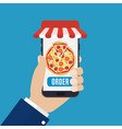 online order pizza vector image vector image