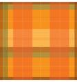 Orange Tartan Plaid Pattern vector image vector image