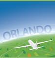 orlando flight destination vector image vector image