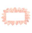 pink lotus petal madalas rectangle wreath vector image vector image