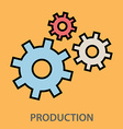 Production gears vector image