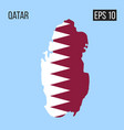 qatar map border with flag eps10 vector image