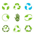 recycling symbols set vector image
