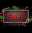 red 3d christmas sale sign on grey vector image