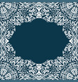 retro white boho floral pattern frame four vector image vector image