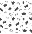 seamless pattern with hand drawn crowns vector image