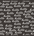 seamless pattern with handwritten calligraphy vector image