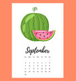 september 2018 year calendar page vector image vector image
