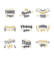 Set of Thank you labels emblems stickers or badges vector image