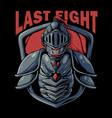skull knight warrior vector image vector image