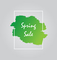 spring sale green background design vector image