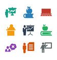 teacher icons vector image vector image