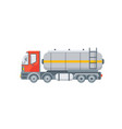 truck for oil petrol side view vector image vector image