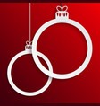 two circles christmas tree toys new year vector image vector image