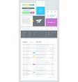 ui is a set components featuring flat design vector image vector image