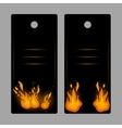 Vertical banners-tags with fire vector image vector image