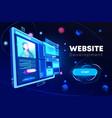 website development banner programming technology vector image vector image