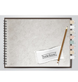 white note book paper vector image vector image