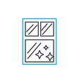 window cleaning linear icon concept window vector image