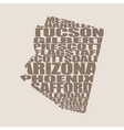Word cloud map of Arizona state vector image vector image