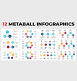 12 metaball infographics circle diagrams and vector image