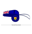 A Whistle of Turks and Caicos Islands vector image vector image