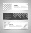 Abstract horizontal banners with design patterns vector image vector image