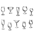 Alcohol and drink glasses vector image