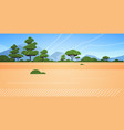 australian desert wild nature landscape background vector image