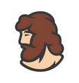 bearded man sign vector image vector image