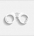 binocular sign white icon vector image vector image