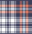 blue orange white plaid pattern seamless vector image vector image