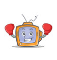 boxing tv character cartoon object vector image vector image