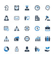business icons - set 4 vector image vector image