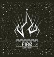 Campfire emblem vector image vector image
