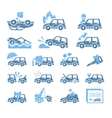 Car Insurance Icons Set in vector image vector image