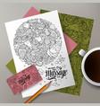 cartoon doodles massage salon corporate vector image vector image