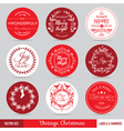 Christmas Labels Banners and Tags Set vector image