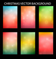 christmas set with the light background vector image vector image