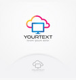 cloud computing logo vector image vector image