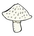 comic cartoon wild mushroom vector image vector image