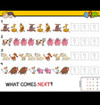 complete the pattern educational game for children vector image vector image