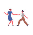 couple performing lindy hop or swing dance vector image vector image