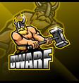 dwarfs esport mascot logo design vector image