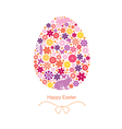 Easter flover egg vector image