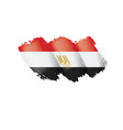 egypt flag on a white vector image vector image
