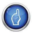 Fan foam hand with number one gesture icon vector image vector image
