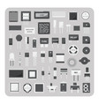 Flat icons electronic circuit board set