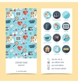 Flyer brochure for vet clinic Pet care Set of vector image vector image
